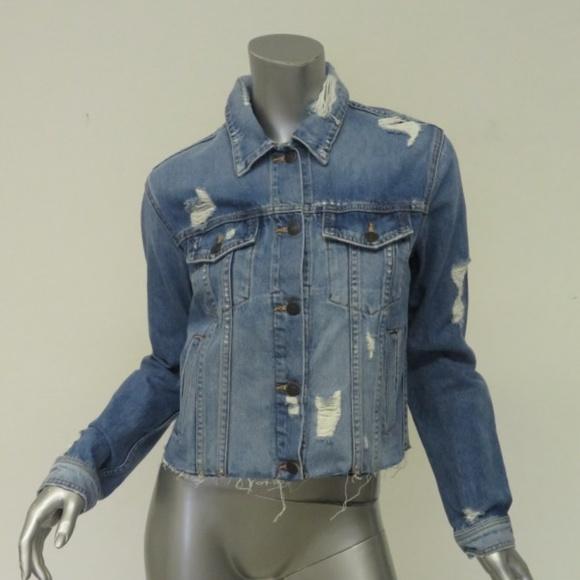 550eb86ce00d Veronica Beard Jackets & Coats   Jean Jacket Cara Distressed Denim ...